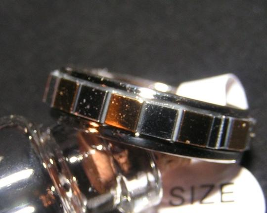 Other BOGO 2 Tone Stainless Steel Mirrored Eternity Band Ring Free Shipping