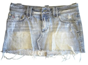 Abercrombie & Fitch Mini Cutoff Cut Off Mini Skirt Light Denim