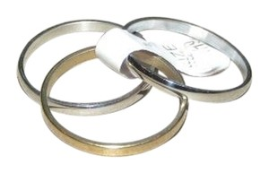 Other 3 In 1 Silver/Gold Stainless steel Band rings free shipping