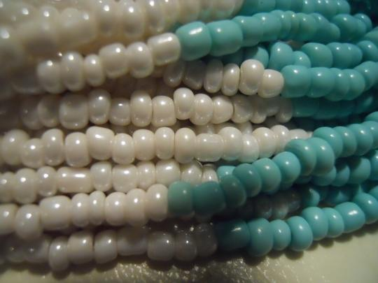 unknown Multi strand beaded necklace & earrings