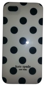 Kate Spade Kate Spade New York White with Black Polka Dots iPhone 5 / 5s HardShell Case