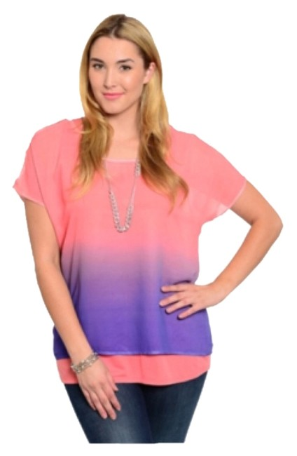 Preload https://img-static.tradesy.com/item/8956021/pink-and-purple-ombre-blouse-size-14-l-0-1-650-650.jpg
