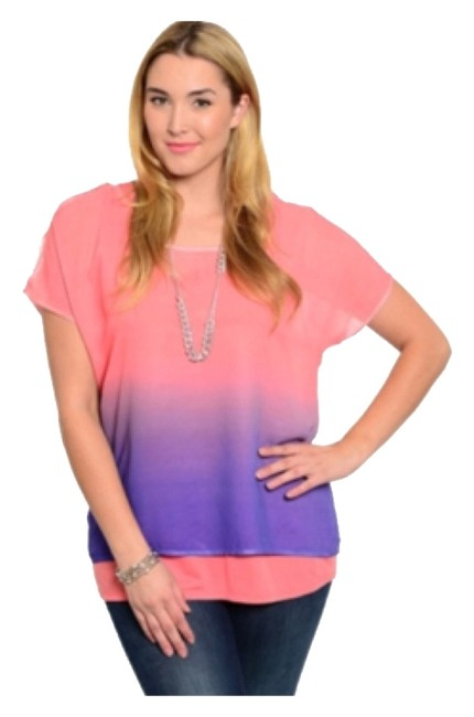 Preload https://img-static.tradesy.com/item/8956042/pink-and-purple-ombre-blouse-size-18-xl-plus-0x-0-3-650-650.jpg