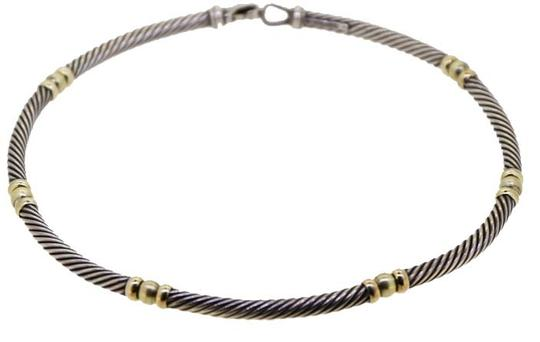 Preload https://img-static.tradesy.com/item/8956072/david-yurman-sterling-silver18kt-yellow-gold-14k-cable-5mm-choker-necklace-0-2-540-540.jpg