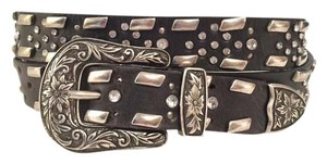 Guess Leather Studs Rinestones Guess Belt