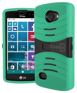 CoverON Mint Teal LG Lancet Case, Full Body Kickstand Hybrid Rugged Drop Protection Pattern Design for LG Lancet VW820
