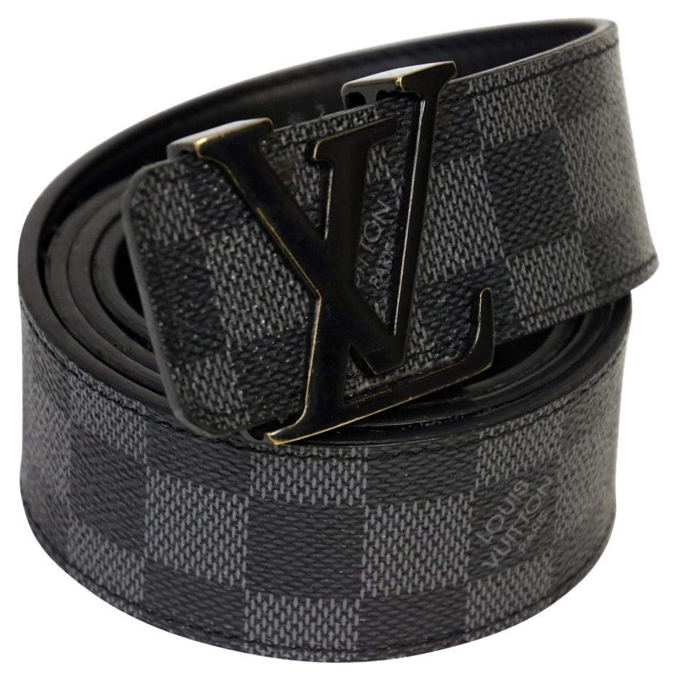 Louis Vuitton Black Damier Graphite Mens with Lv Buckle 30 ...