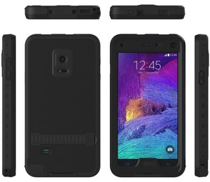 HiTechCase Sale - Galaxy Note 4 Waterproof Case with Screen Protector with Kickstand (BLACK)