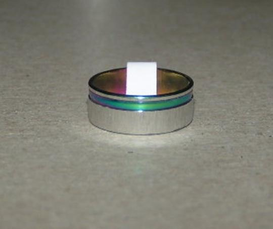 Other BOGO Brushed Rainbow Striped Band Ring Free Shipping