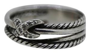 David Yurman * David Yurman X Crossover Ring with Diamonds - Size 6.5
