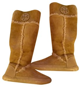 Tory Burch Tan, white Boots