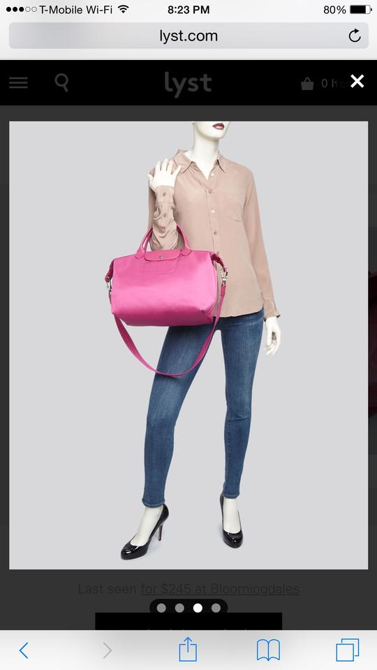 1bc7ede55db7 Longchamp Exclusive Le Pliage Neo Medium Pink (Hydraangea) Nylon Cross Body  Bag - Tradesy