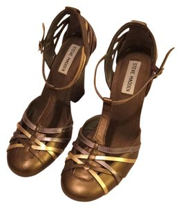 Steve Madden Brown/Gold Wedges