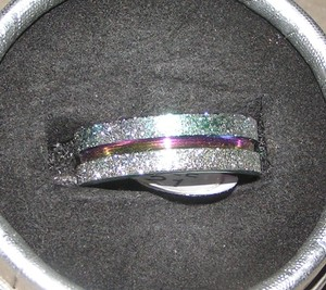 Brushed Rainbow Stainless Band Ring Free Shipping