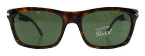 Persol New Persol PO 3062-S 24/31 Havana Acetate Full-Frame Gray Green Tempered Glass Lens 56mm Italy