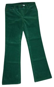 J.Crew Boot Cut Pants Green