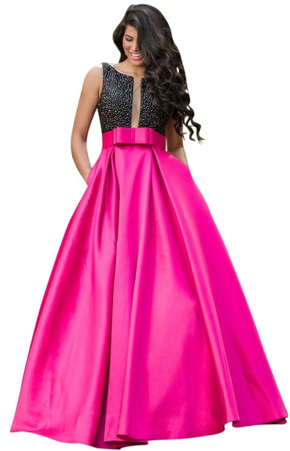 Preload https://img-static.tradesy.com/item/8959726/jovani-pinkblack-gown-long-formal-dress-size-14-l-0-1-650-650.jpg