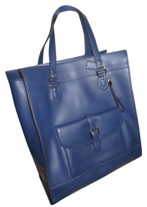 Coach From Leather Tote in Navy Blue, Ink