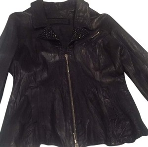 Maxfield/Jaded by knight Maxfield Leather Jaded Studded Blk Leather Jacket