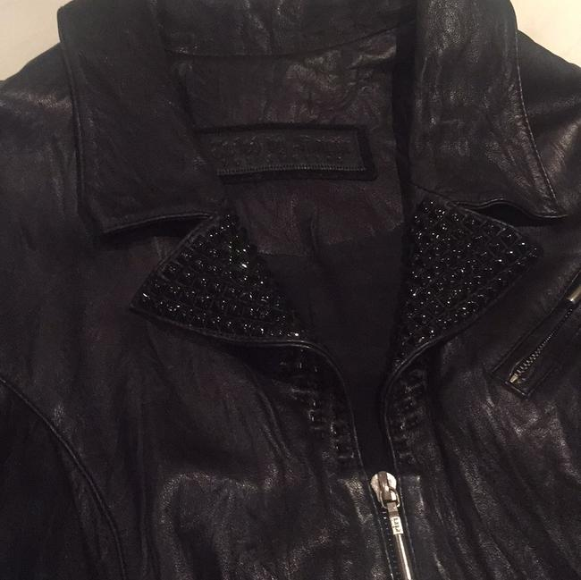 Maxfield/Jaded by knight Studded Blk Leather Jacket
