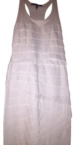 BCBGMAXAZRIA short dress White Tiered Fitted on Tradesy