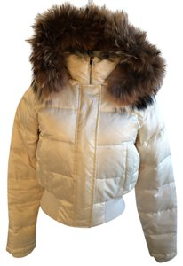 Laundry by Shelli Segal Satin Puffy Puffer Coat
