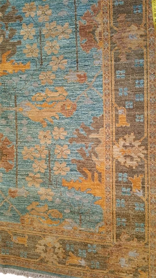 Bloomingdale S Gold Orange Teal Brown Genuine Hand Woven Oriental Rug Tradesy