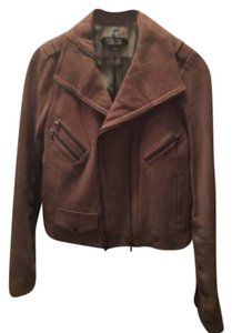 Vena Cava Tan with steal color metal hardware Leather Jacket
