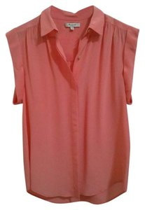 Madewell Silk Top Coral