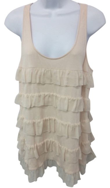Preload https://img-static.tradesy.com/item/8962264/diane-von-furstenberg-champagne-tiered-ruffles-sleeveless-blouse-size-12-l-0-3-650-650.jpg