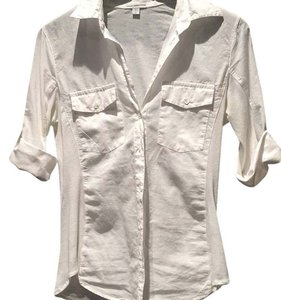 James Perse Button Down Shirt White
