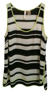 Wyatt Striped Top Black and Cream