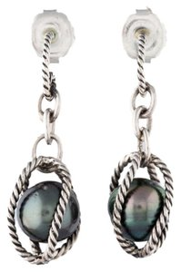 David Yurman David Yurman Black Pearl Earring