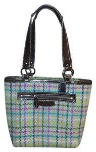 Coach Tote in Grey/Multi Tattersall Plaid