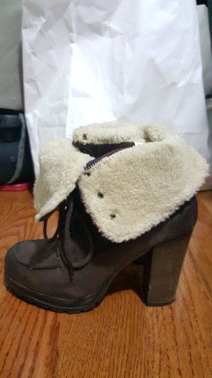 ALDO Winter Warm Casual Shearling Lace Up Brown Boots