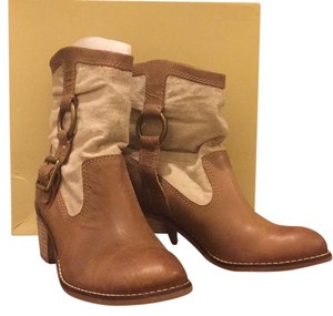 Lucky Brand Camel and Linen Boots