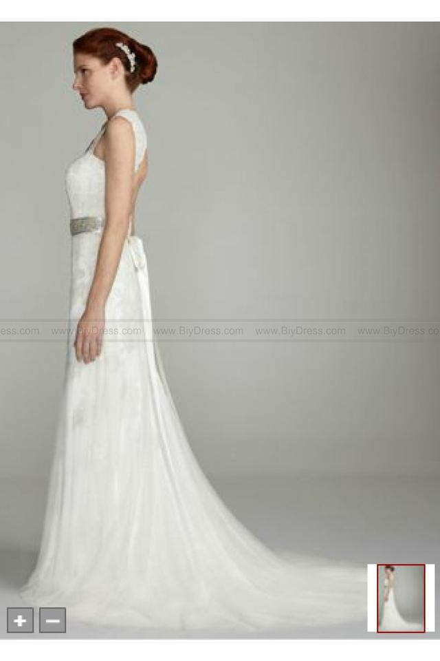 David\'s Bridal Ivory Lace Style Gown Vintage Wedding Dress Size 2 ...