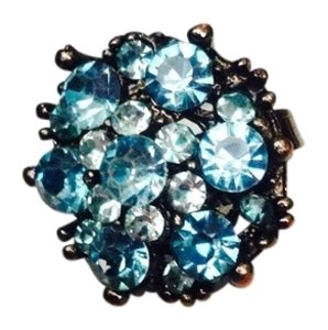 Not Rated Adjustable Blue Beaded Ring