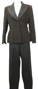 ANGEL YANEZ ANGEL YANEZ BLACK SATIN TRIM TUXEDO COCKTAIL PANT SUIT 2