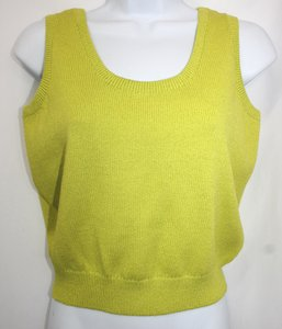 St. John Chartreuse Knit Top