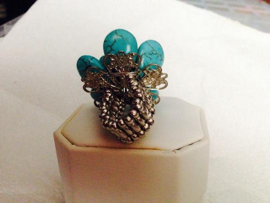 Not Rated Stretchable Turquoise Ring
