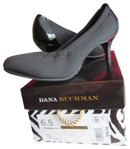 Dana Buchman Patent Medium Heel Comfortable Heels Black Pumps