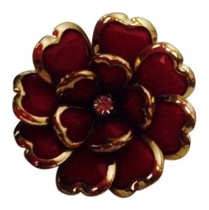 Not Rated Red Flower Stretchable Ring