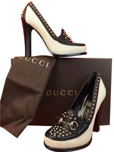 Gucci White/Black Pumps