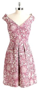 Kay Unger Jacquard Mad Men Retro Off-shoulder Party Dress
