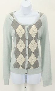 Talbots Baby Argyle Pearl Cardigan B29 Sweater