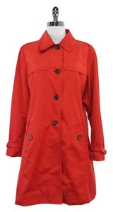Max Mara Red Cotton Blend Trench Trench Coat