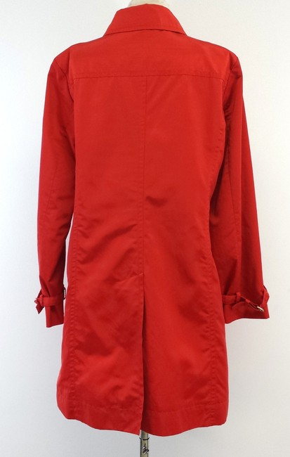 Max Mara Red Cotton Blend Trench Coat