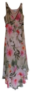 Maggy London short dress Multi Romantic Muted Colors Soft Floral on Tradesy