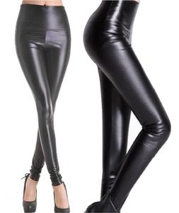 Other Shiny Women High Waist Plus Sizes Black Leggings